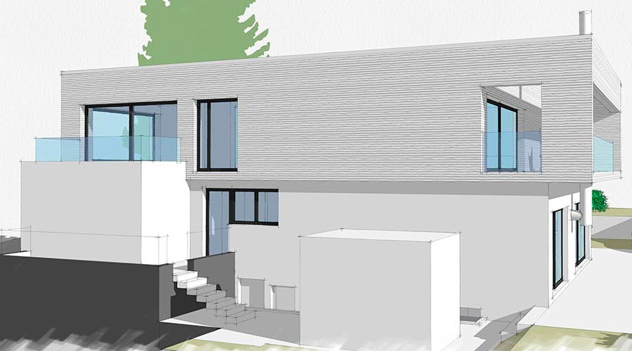 orus + partner architekten | P house, addition project, 2013