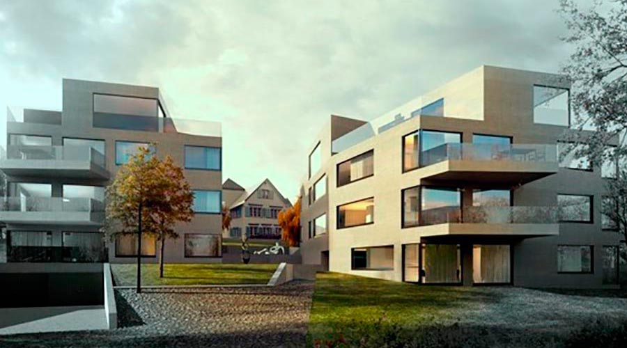 orus + partner architekten | P3 house, multi family, competition project, 2015