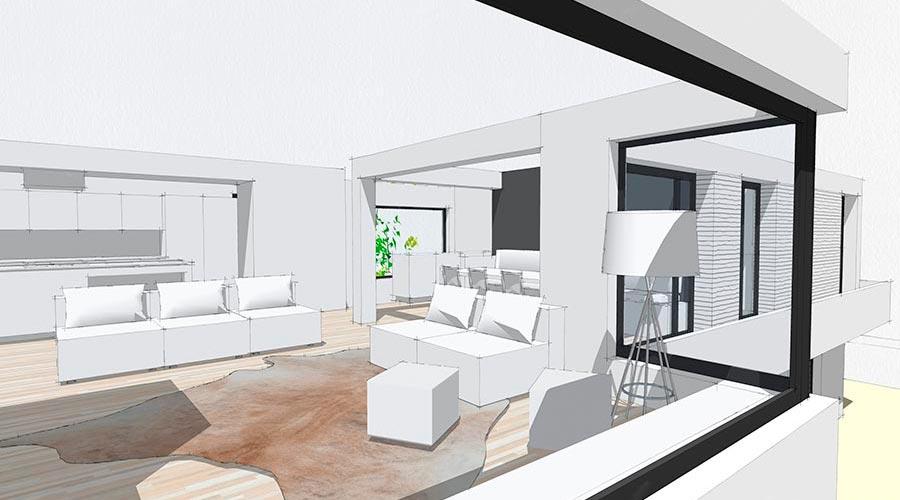 orus + partner architekten | S house, single family, addition-renovation, in-progress